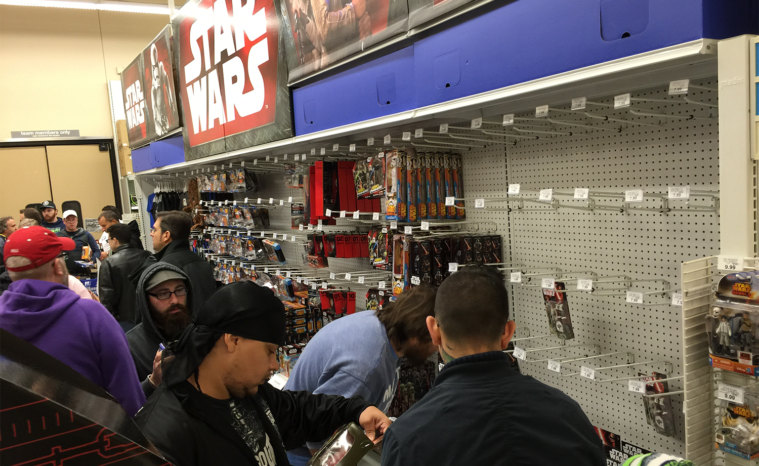 Fans in line for Force Friday at the Toys'R'Us in Tukwila, WA