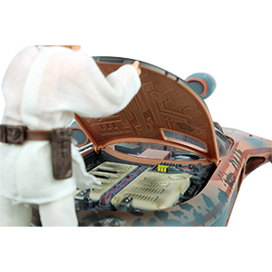 Luke Skywalker With X-34 Landspeeder