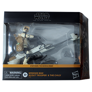 Biker Scout With Speeder Bike And Grogu