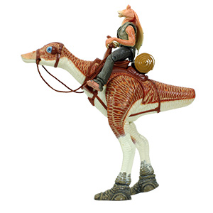 Jar Jar Binks With Kaadu