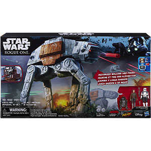 AT-ACT Driver With Rapid Fire Imperial AT-ACT Vehicle