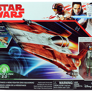A-Wing Pilot With Red Squadron A-Wing Fighter