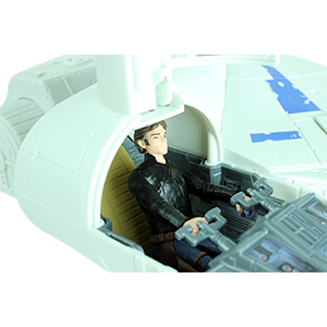 Han Solo With Kessel Run Millennium Falcon