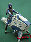 Mandalorian Warrior with Mandalorian Speeder