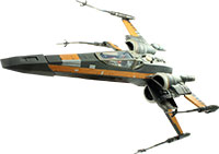 Poe Dameron With Poe's X-Wing Fighter