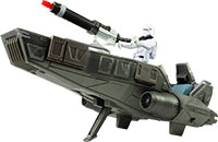 Snowtrooper Officer With First Order Snowspeeder
