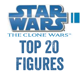 Star Wars The Clone Wars TOP 20 Figures