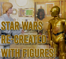 Star Wars Re-Created With Figures