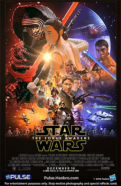 Star Wars The Force Awakens Poster Re-Created With Star Wars Action Figures