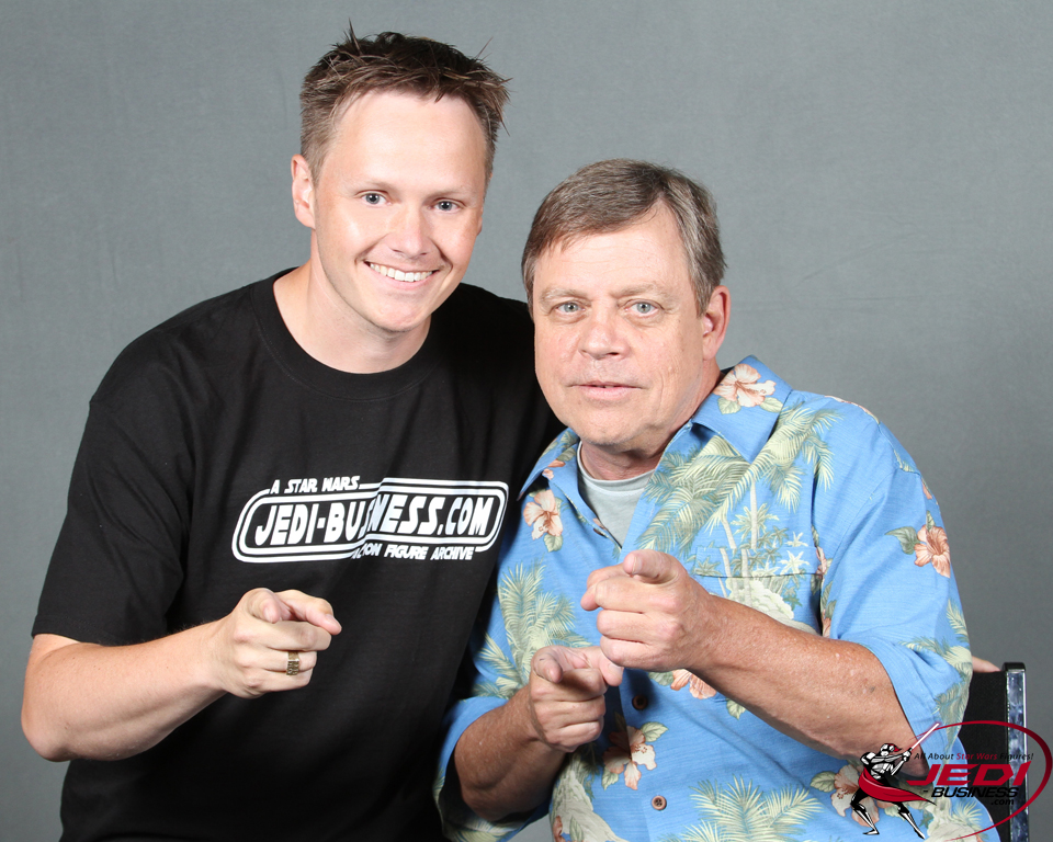 Mark Hamill and Criz Bee at Star Wars Celebration VI in 2012
