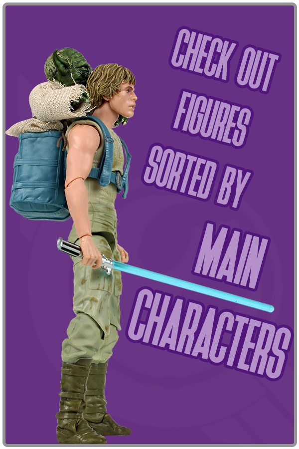 Main characters from the Star Wars movies