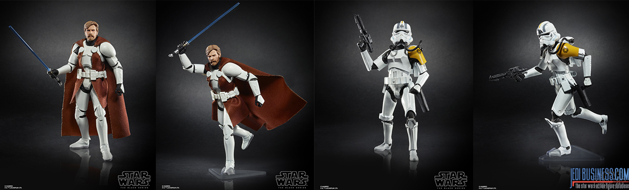 Black Series Kenobi and Black Series Rocket Trooper