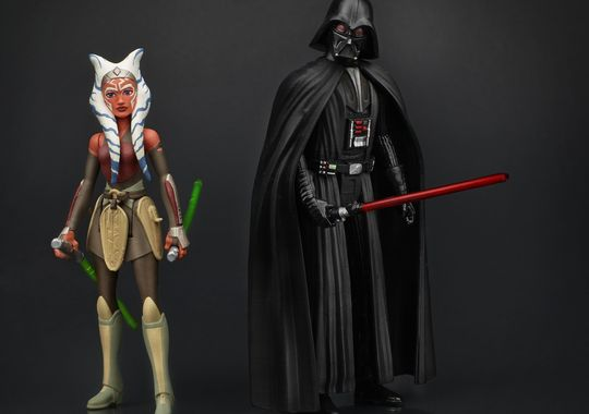 Star Wars Rebels Vader and Ashoka Figures