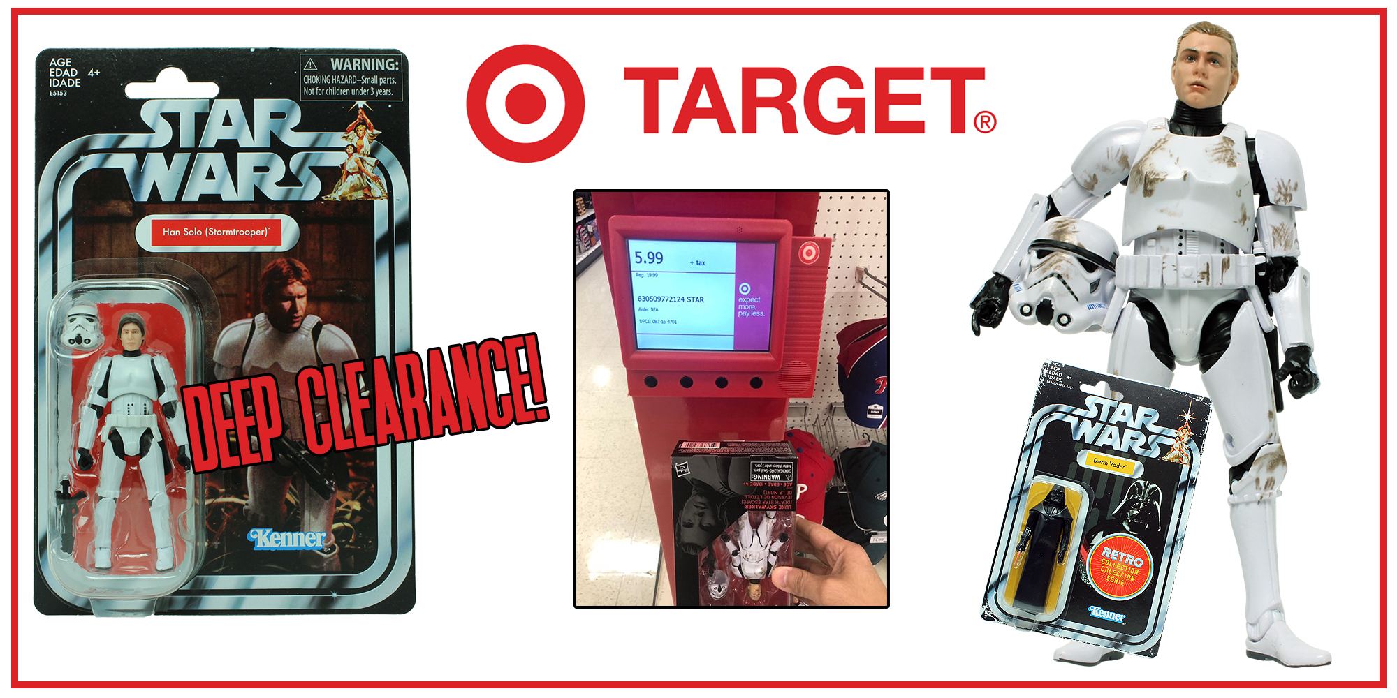 Star Wars Clearance at Target stores