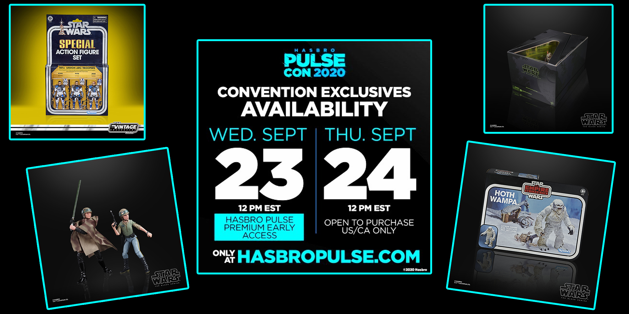 Star Wars exclusives at Hasbro Pulse