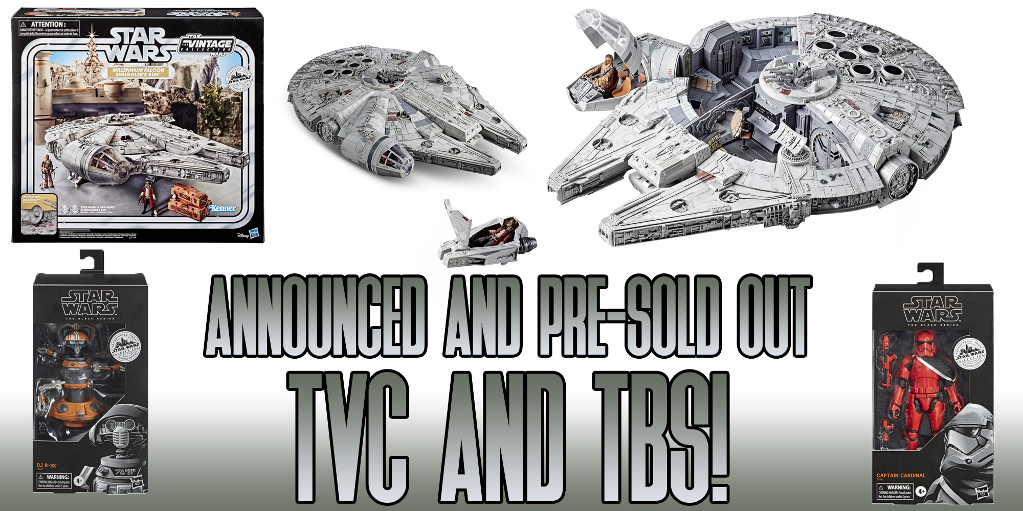 Vintage Collection Millennium Falcon and Black Series News