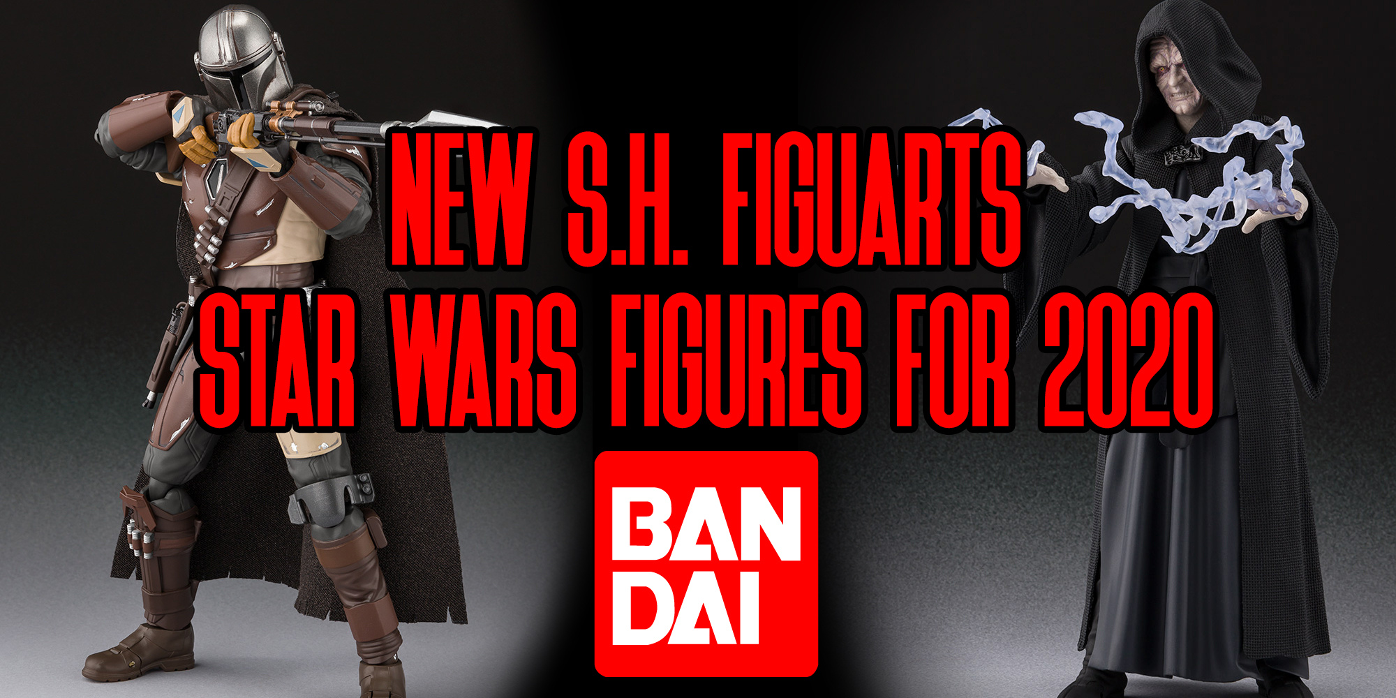SH Figuarts Mandalorian and Emperor Palpatine