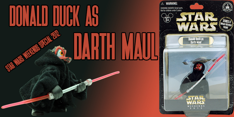 Donald Duck as Darth Maul
