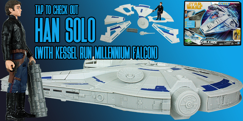 Check Out The Kessel Run Millennium Falcon With Han Solo!