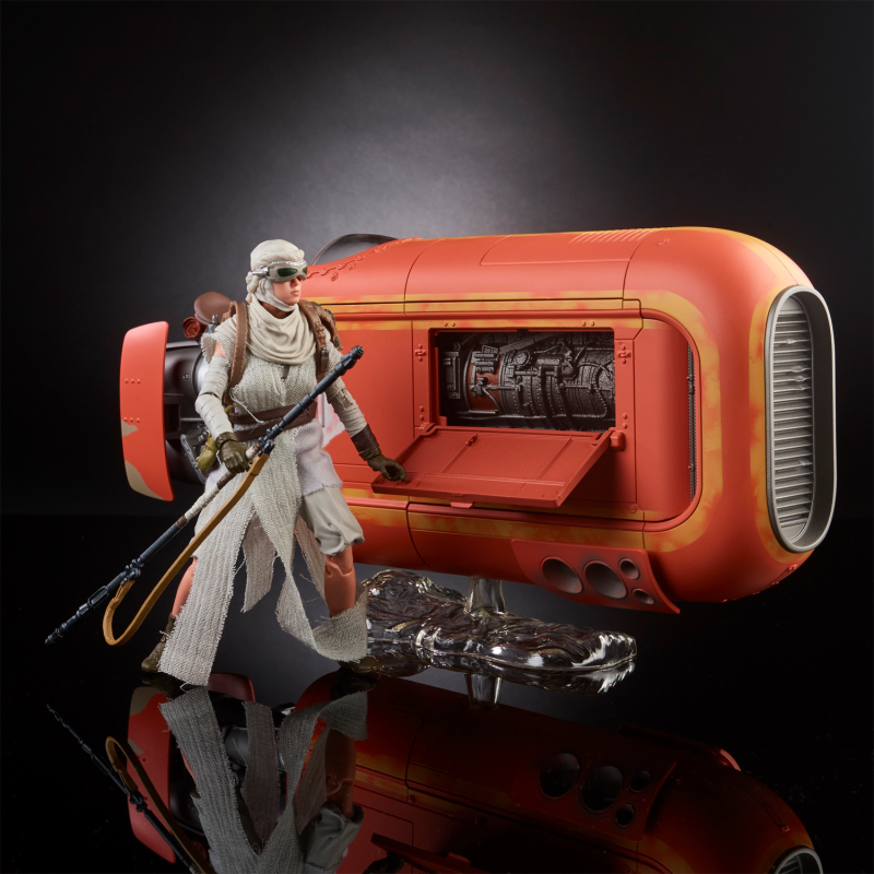 Black Series Rey With Rey's Speeder