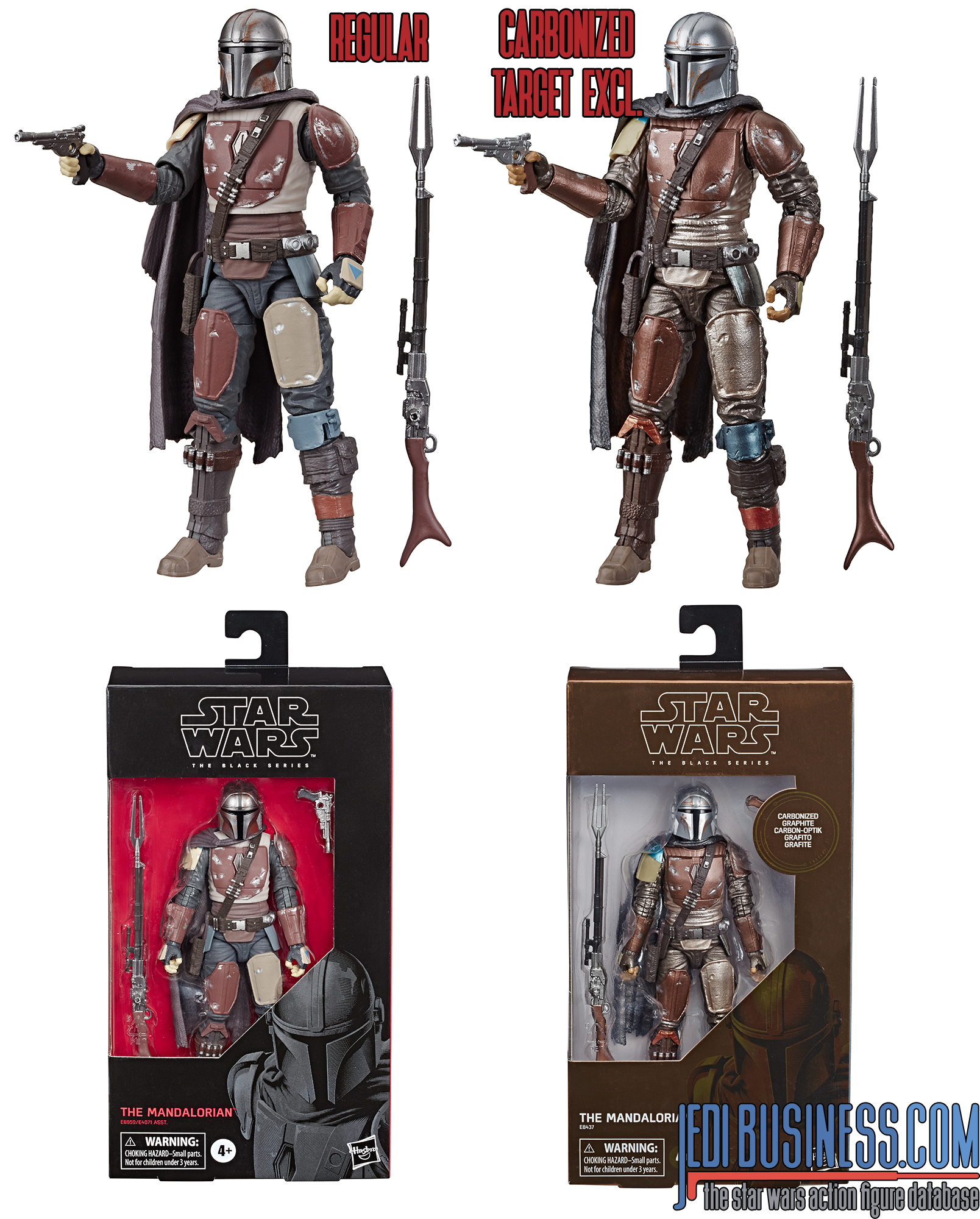 Black Series  Mandalorian carbonized